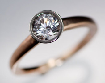 Bezel engagement rings @SheerEverAfter