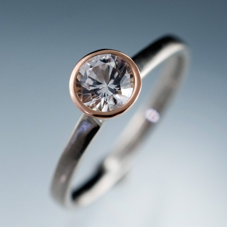 Bezel set engagement rings @Sheer Ever After