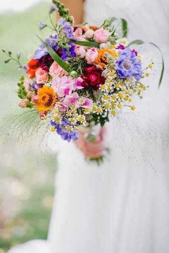 Wild flower wedding bouquet inspiration SheerEverAfter.wordpress.com