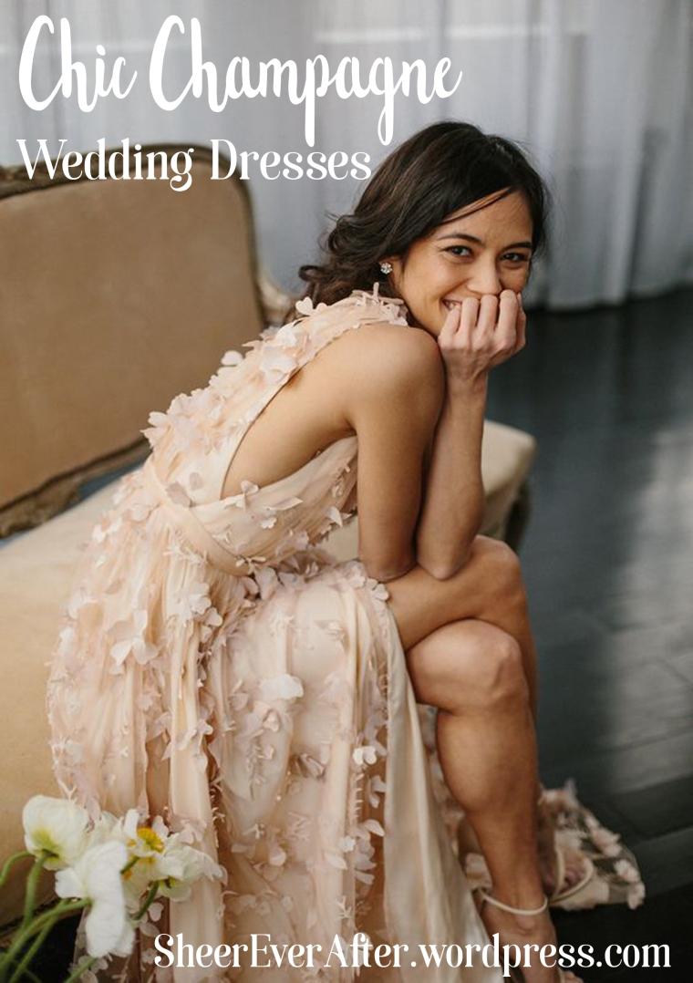 Champagne & nude wedding dress inspiration @Sheer ever after